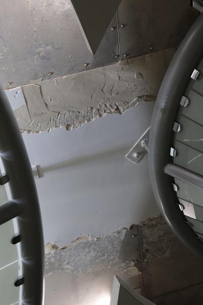 Фрагмент потолка на открытой станции «Стрелка»