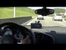 Гонки на трассе Audio R8 VS Suzuki GSXR 1000cc and Kawasaki