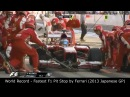 World Record - Fastest F1 Pit Stop by Ferrari (2013 Japanese GP)