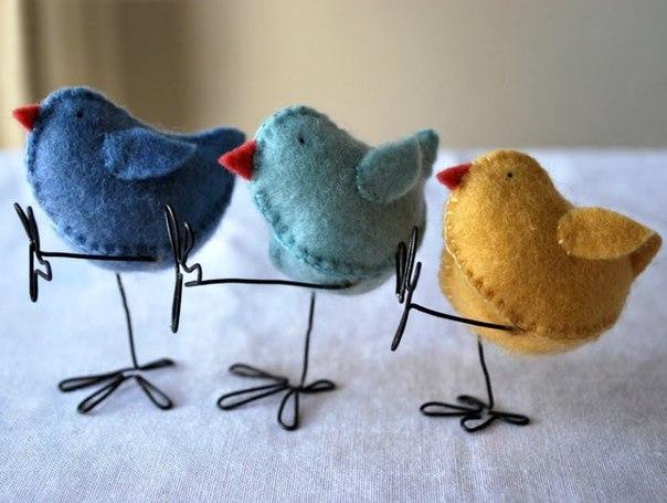 Танцующие птички из фетра идея выкройка… (6 фото) - картинка