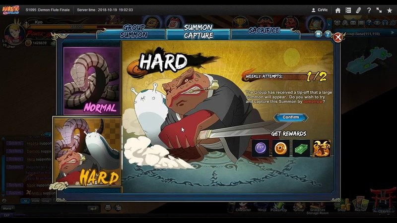 Naruto ナルト Online NS D53 NT 10 PAs Hard GS Scheduling