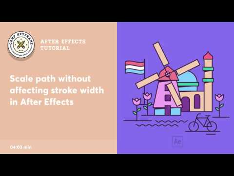 Scale Path and Maintain Stroke Width - After Effects Tutorial