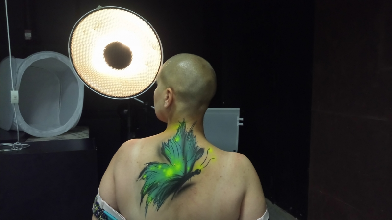 Фото-сессия в стиле Боди-арт: бабочки в рамках конкурса Северная Аврора - 2018