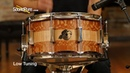Pork Pie 7x14 Maple Snare Drum Lacewood Curly Maple Quick 'n' Dirty