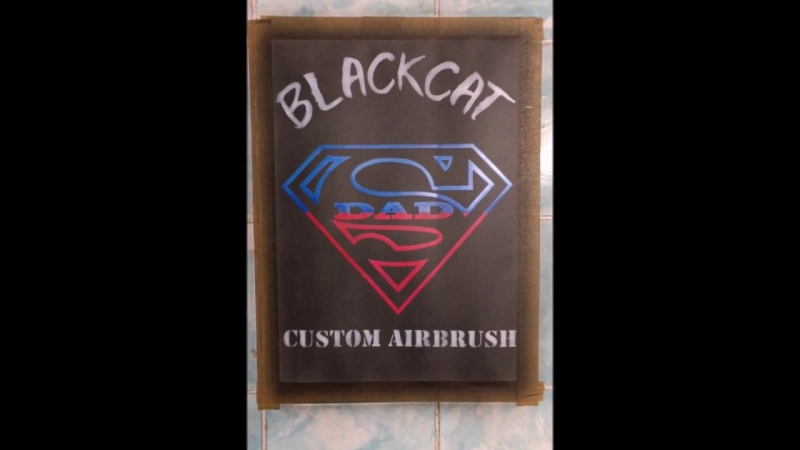 SupermanDad_BlackCat custom airbrush
