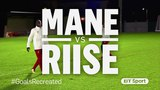 Sadio Mané attempts John Arne Riise's thunderbolt for #GoalsRecreated