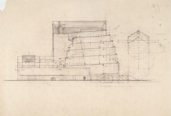Эскизы музея Гугенхайма (N_Y)