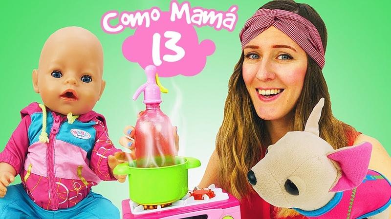 Ana está preparando leche de fórmula para Amelia. Vídeos de juguetes para niñas