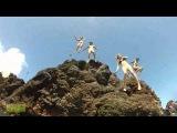 Spring break 2014 sexy girls in bikini jump off cliffs and swim under water