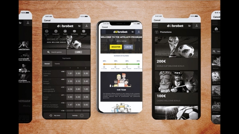 Check out our mobile site. Betting, Live betting, Virtual sport, Live Casino, Casino on www. dobrobet.com