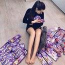 — Когда у меня стресс, я ем конфеты!