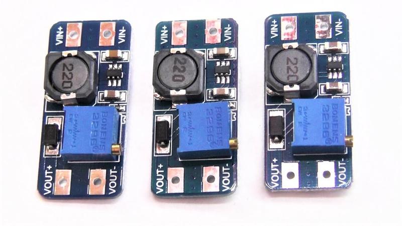 Подключаем последовательно и получаем высокое напряжение с плат MT3608