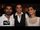 Sonam Kapoor, Dhanush & Abhay Deol at Raanjhanaa Success Party