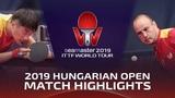 Zhao Zihao vs Carlos Machado 2019 ITTF World Tour Hungarian Open Highlights (Pre)