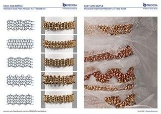 схемы цепочек схемы рисунков и узоров схемы браслетов схемы Схемы плетения с твином (бисером с двумя отвестиями).