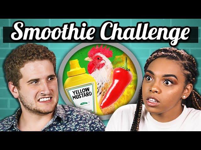 SMOOTHIE CHALLENGE (Gross Ingredients) | College Kids Vs. Food