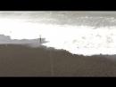 С пляжа смыло все камни