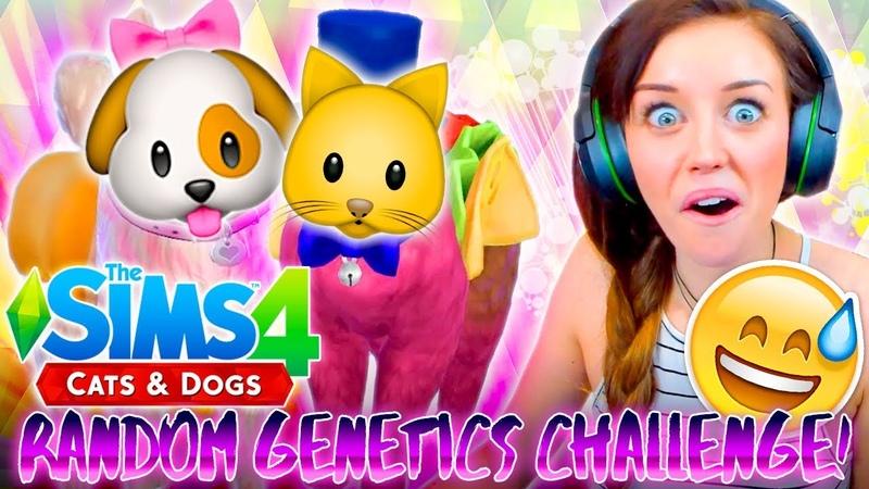 SUPER WEIRD!? 🐱🐶Cats Dogs Random Genetics Challenge!🐱🐶 (Sims 4 CAS!)