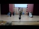 Данила выступает с танцем Ах эти тучи в голубом