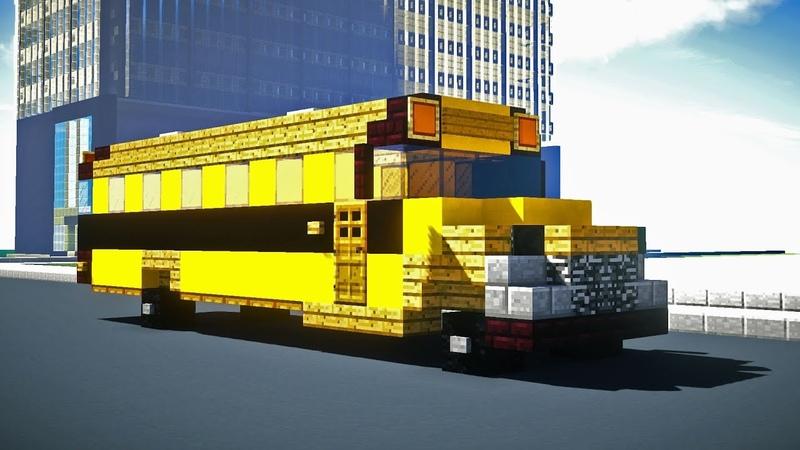 Minecraft American School Bus Tutorial