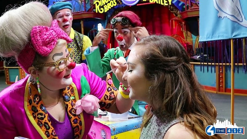 Abby's Clown Transformation at Ringling Bros and Barnum Bailey's Circus Xtreme