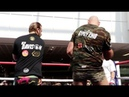 DOUBLE TROUBLE! - GYPSY BOYS TYSON FURY ISAAC LOWE BATTER THE PADS IN WORKOUT w/ BEN DAVISON