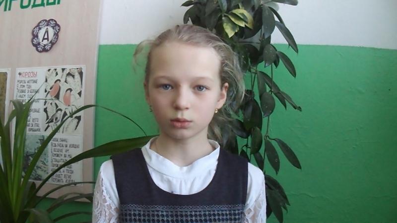 Участница акции Живая вода - Павлова Валерия, ученица 4 класса Теребаевской школы, Никольский район.