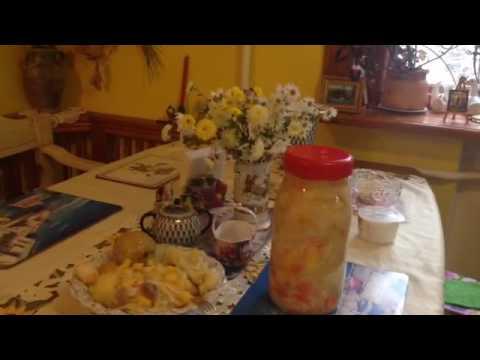 Квашеная капуста с тыквой и фруктами