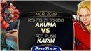 ROHTO Z Tokido Akuma vs REC Punk Karin NCR 2019 Grand Finals CPT 2019