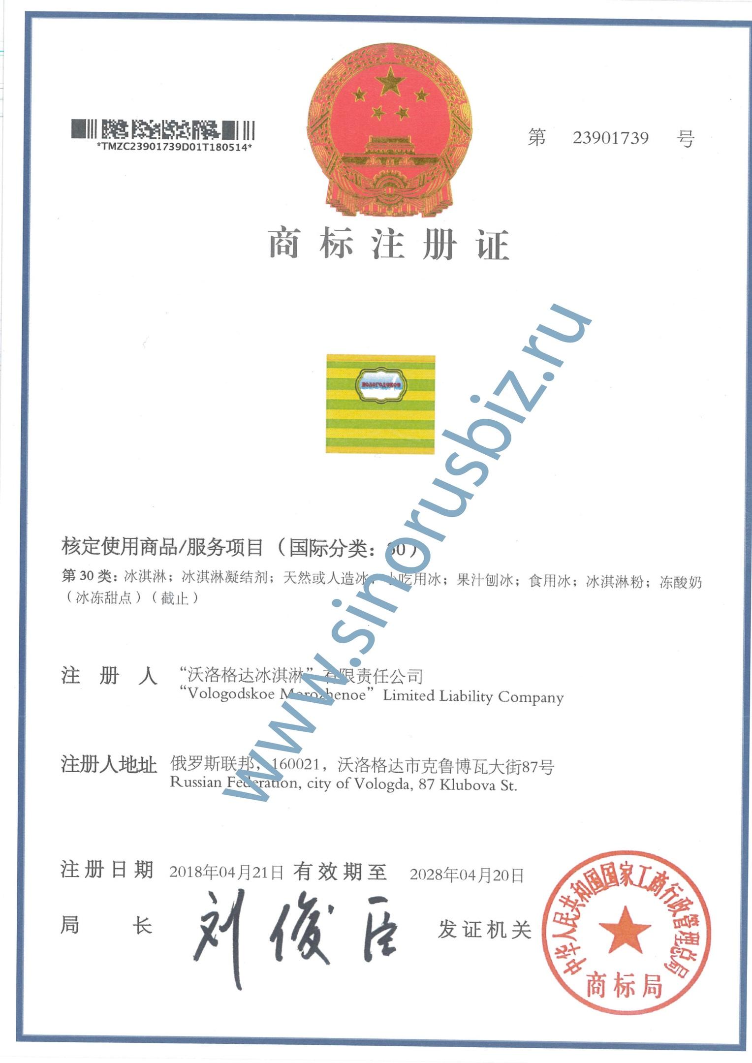 Регистрация марки в Китае