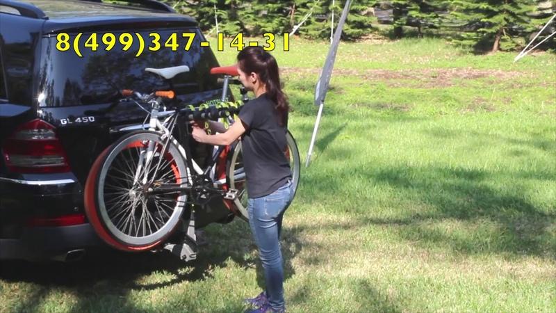 Велобагажник на фаркоп (под американский квадрат) Buzzrack Buffalo H4 BRH224 (обзор, установка)