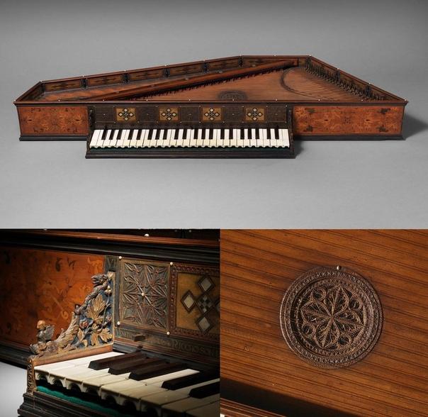 Спинет, 1540 год, Венеция, Италия Спинет небольшой домашний клавишный струнный музыкальный инструмент, разновидность клавесина. Имеет один мануал и один ряд струн. В отличие от других