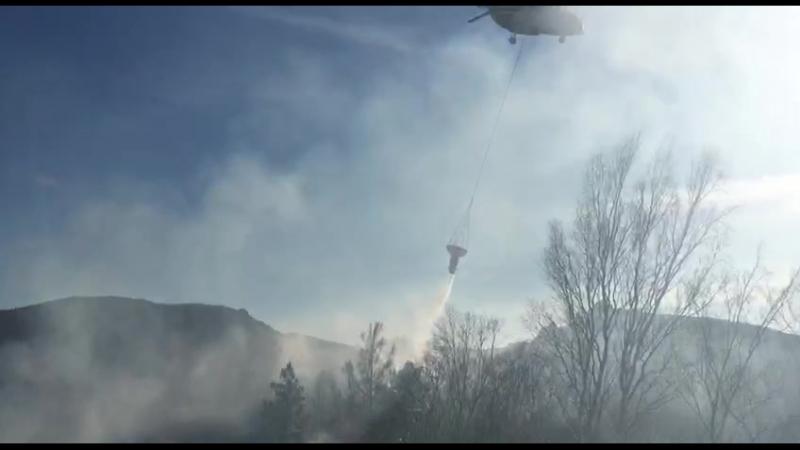 Тушение пожара на Торгашинском хребте