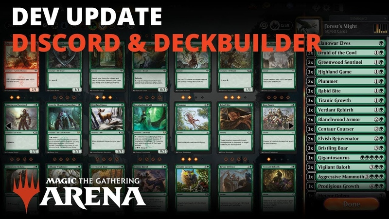 MTG Arena Developer Update Discord Deckbuilder