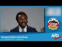 Achille Demagbo (AFD) Bewerbungsrede für EU Parlament am 19.11.18