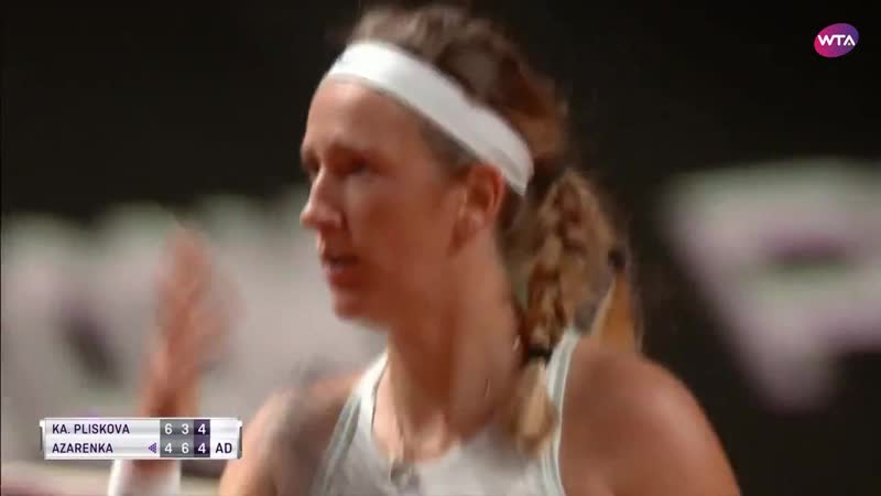 «At 4-4, deuce in the final set, vika7 brought