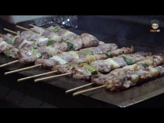 Chicken skewer _ korean street food _ yeojwa stream, jinhae korea