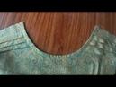 Cara kelim leher Baju
