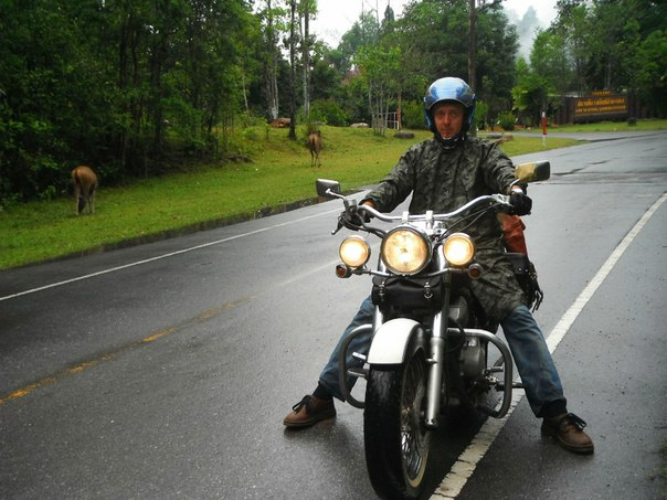 Байкер Жора в заповеднике Таиланда