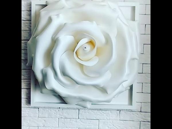 Панно Объемная роза из изолона