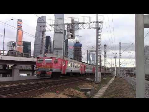 Электропоезд ЭД2Т-0007 перегон Фили-Москва-Пассажирская-Смоленская