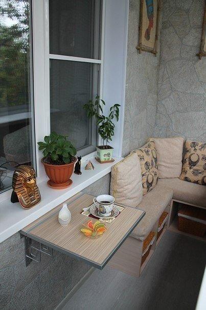 Эргономичный и уютный дизайн балкона