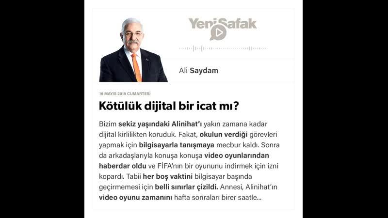 Ali Saydam Kötülük dijital bir icat mı 18 05 2019