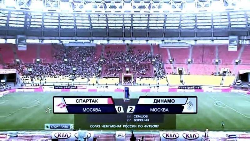 Спартак М Динамо М 0 2 15 тур Обзор HD