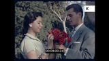 Romantic Date, Man with Flowers, 1960s South America, HD