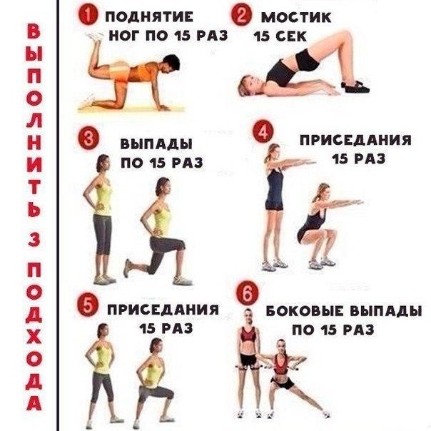 Диета для похудения бедер и ног: меню на две недели