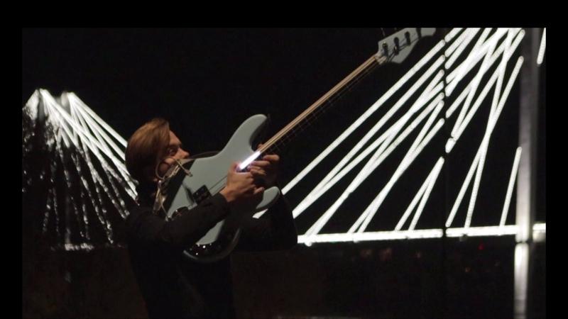LED Fretless Bass Guitar