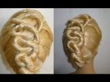Витая Коса Жгут.Причёска с плетением.Twist Braid Hairstyle.Coiffures.Peinados con Trenzas