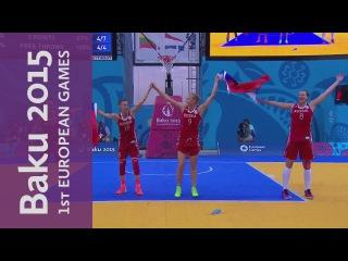 Women's Gold Medal Final Full Replay | 3x3 Basketball | Baku 2015 European Games