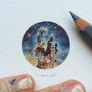 Новые акварельные миниатюры художницы Lorraine Loots.